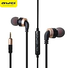 Xiuxingzi_ Awei ES-30TY Super Bass In-ear Headphone Mic Volume Control Earphone GD