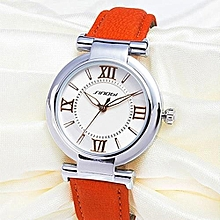 luxury fashion brand classic women quartz leather strap wrist watches black relogio feminino
