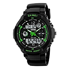 0931 Brand Men's Sports Watch Fashion LED Digital Quartz Wristwatches Casual Shock Resistant Outdoor Watches - Green