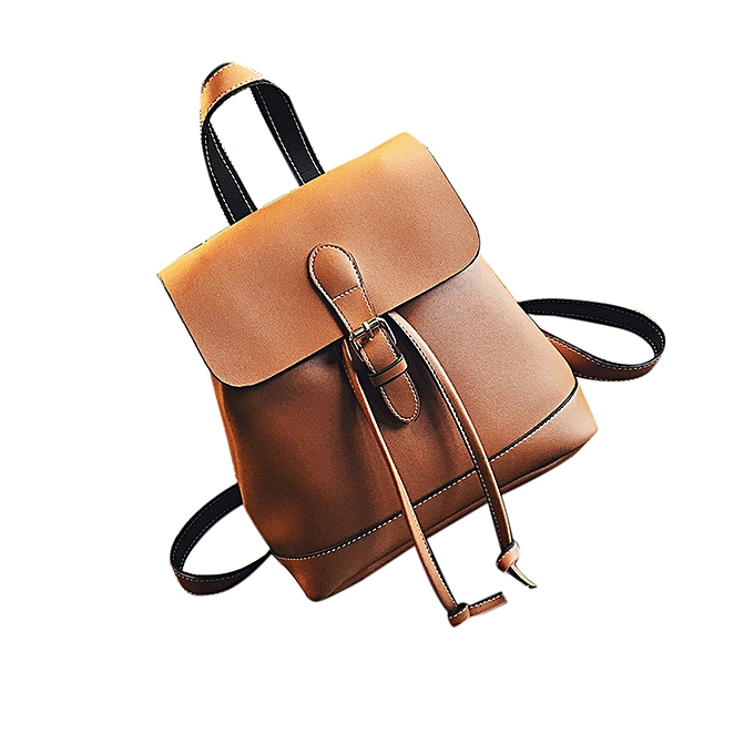 guoaivo Women Backpack Leather School Bags Teenagers Girls Backpacks  Fashion BW a9d9d5c182