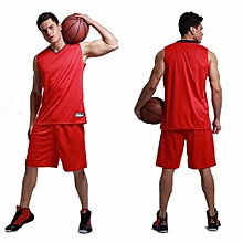 Men's Customized Team Basketball Sport Jersey Shirts And Shorts Set-Red(MB-2888)