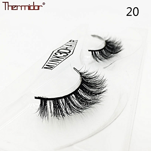 e09bb1f8110 Generic 3D Real Mink Lashes Thick 3d Mink Hair Lashes High Quality Soft  Cross Natural Fake Eyelashes Reusable Eye Lash(20)