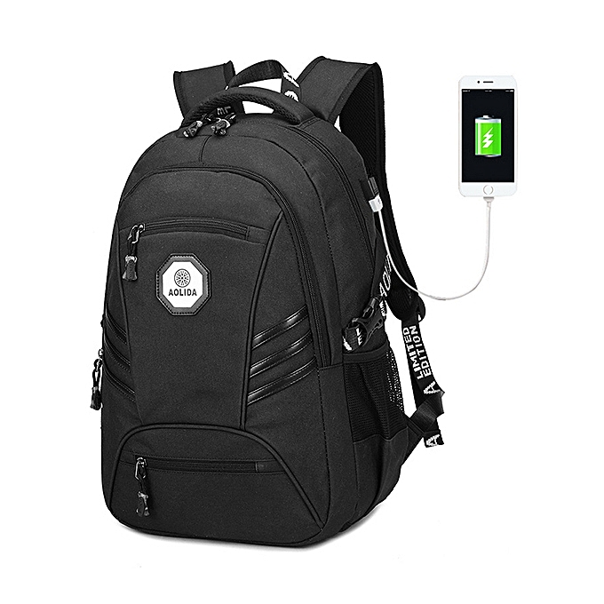 8888a3922793 Men PVC Waterproof 18 Inches Laptop Backpack With USB Charging Port