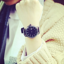 bluerdream-Fashion Classic Retro Watch Men 's Watches Trend Simple Couple Watches-Black