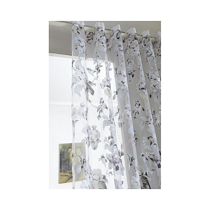 Kitchen Curtains In Kenya: Floral Voile Curtains Window Blinds Panel For Living Room
