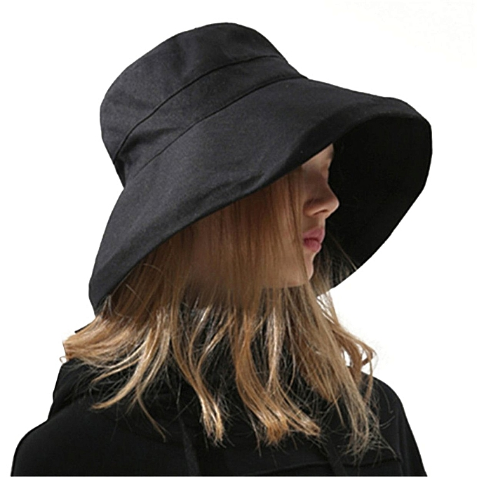 2e73a959515 Summer Women Bucket Hat Caps Comfortable Solid Color Fisherman Cotton ...