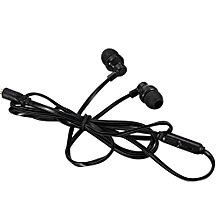 Guoaivo3.5MM With Microphone Bass Stereo In-Ear Earphones Headphones Headset Earbuds  -Black