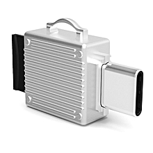 Q24 2 in 1 Toolbox shape Type-C Metal Memory Card Reader, Support TF Card(Silver)