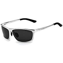 c8425abb1f90 VEITHDIA 6520 Premium Men Magnesium and Aluminium Alloy Frame Polaroid  Sunglasses- Silver XYX-S