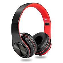 Over Ear Bluetooth Headphones, Wireless Headphones(Red)