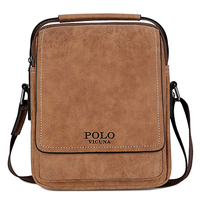 2e2d772ff62 VICUNA POLO Leather Solid Men Business Crossbody Bags Set With Wallet High  Quality Casual Short Travel