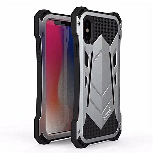 newest 39146 50cfb Suit For IPhone for iphone X Case,R-JUST Outdoor Shockproof Dirtproof  Waterproof Metal&Silicone Phone Cover Cases For for iphone X With Gorilla  Glass ...
