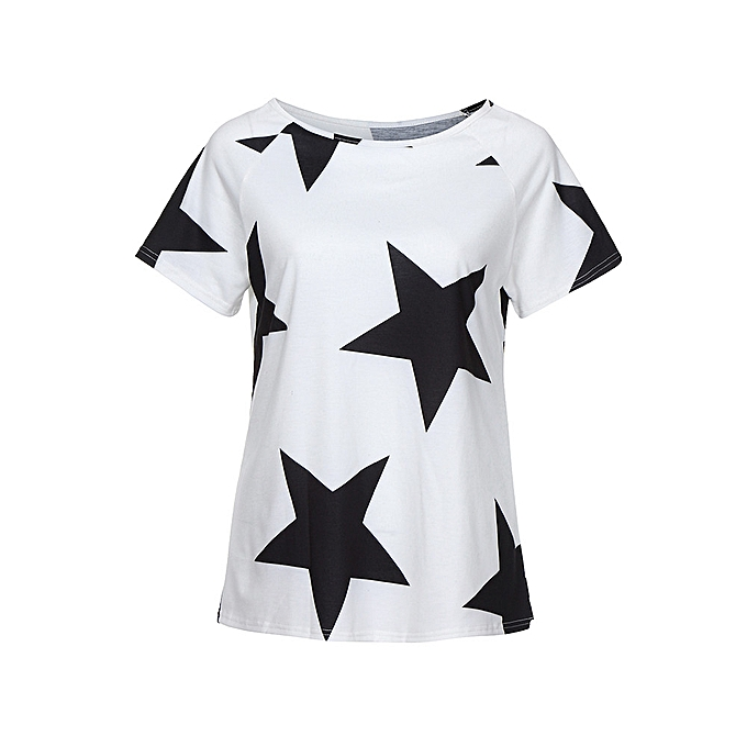 f4223f9946d0bf ... Checkeck Women s Off Shoulder Short Sleeve T Shirt Casual Loose Fit  Tops Blouses ...