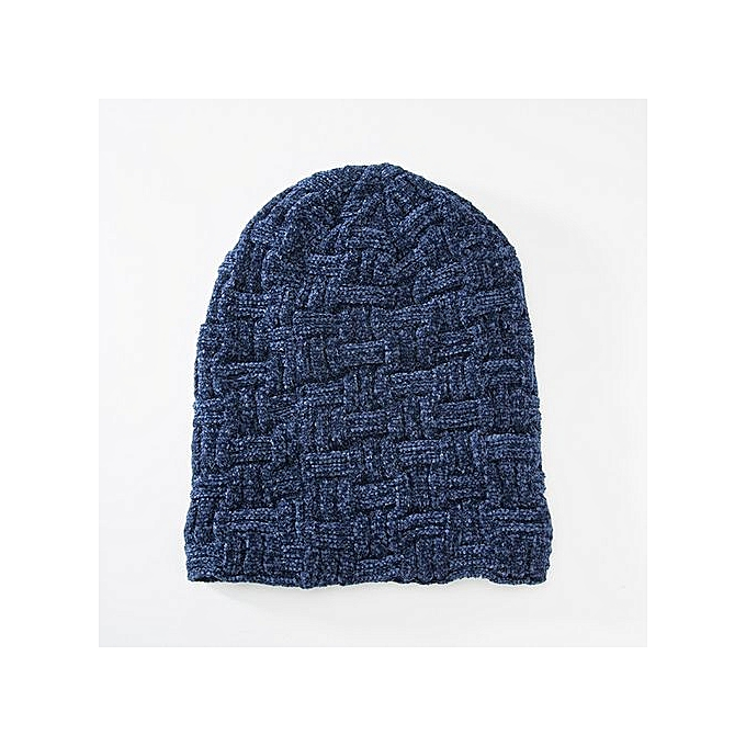 Men Women Winter Plus Thickened Design Chenille Solid Ear Protector Slouchy Hat
