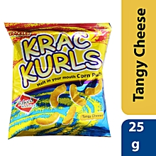 Baked Not Fried Krac Kurls Tangy Cheese Corn Puffs - 25g