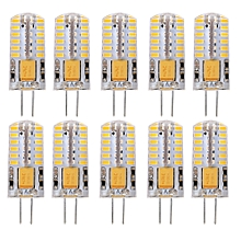 Lightme 10PCS G4 DC 12V 2.5W SMD 3014 LED Bulb Spotlight with 48 LEDs WARM WHITE LIGHT