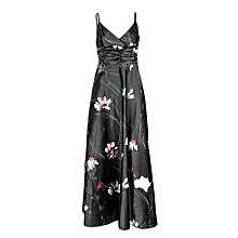 Black Flowered Cami Dress