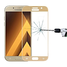 For Samsung Galaxy A7 (2017) / A720 0.33mm 9H Surface Hardness Silk-screen Full Screen Tempered Glass Screen Protector(Gold)