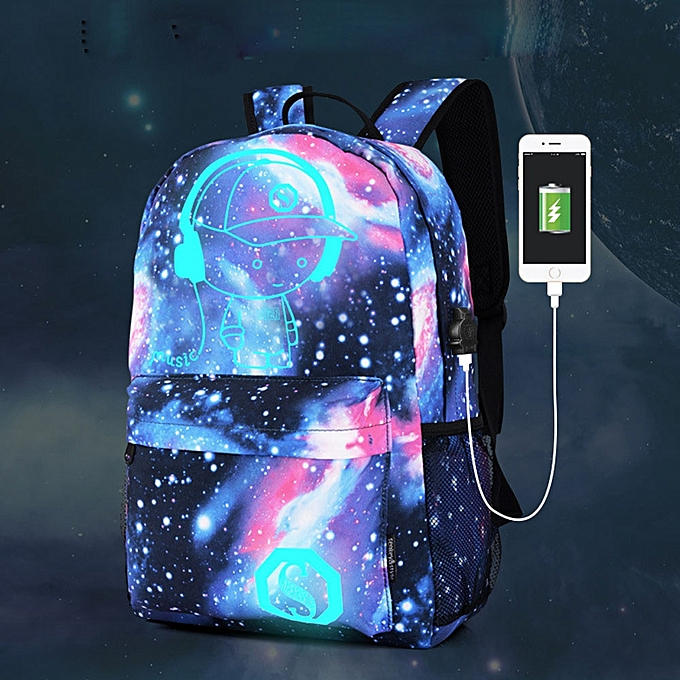 ... guoaivo Galaxy School Bag Backpack Collection Canvas USB Charger for Teen  Girls Kids ... 42a91df89a