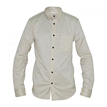 Cream Long Sleeved Men's Shirts