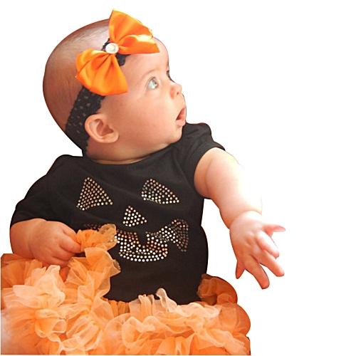 newborn infant baby girls tutu romper topsleg warmers halloween outfits set