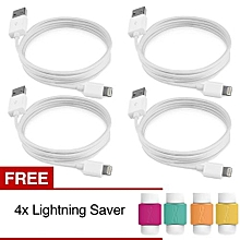 Lightning USB Charging And Data Cable MFI Certified ForFor Applefor Iphone IPad IPod IOS8 9 + Free Lightning Saver