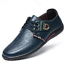 Men's Official PU Leather Shoes Blue