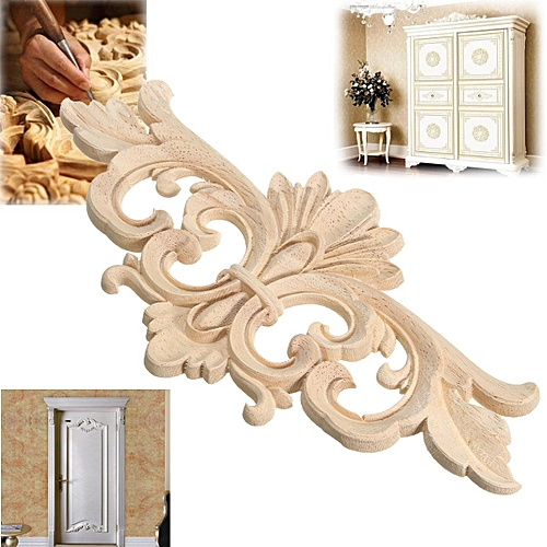 Buy Generic 22*10 cm Wood Carved Corner Onlay Applique Frame Decor ...