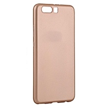 Ultra Thin Shockproof Mobile Phone Cover Soft TPU Matte Back Phone Case For Huawei P10 Plus- Gold