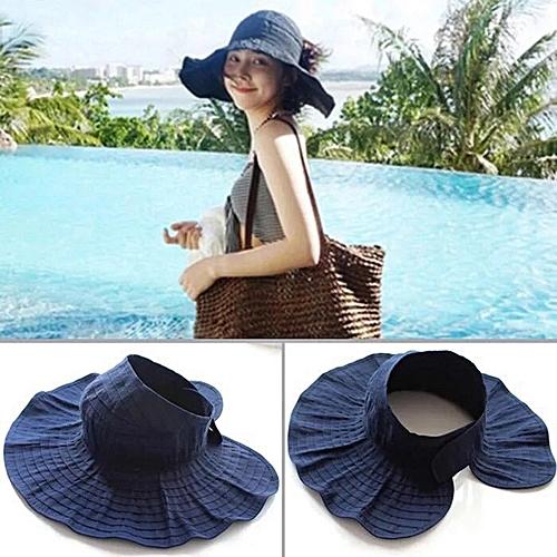 b4092593f13 RD-503 Summer Women s Outdoor Sun Protection Folding Big Empty Top Beach Hat