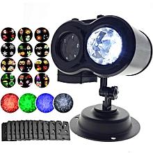 Outdoor LED Ocean Wave Lamp, Laser Spots Projector 12 Cards Party Light Christmas Xmas Snowflake Light - EU Plug