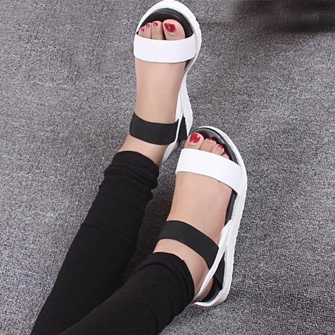 2c5a0bd5dbd99 Xiuxingzi Women s Summer Sandals Shoes Peep-toe Low Shoes Roman Sandals  Ladies Flip Flops