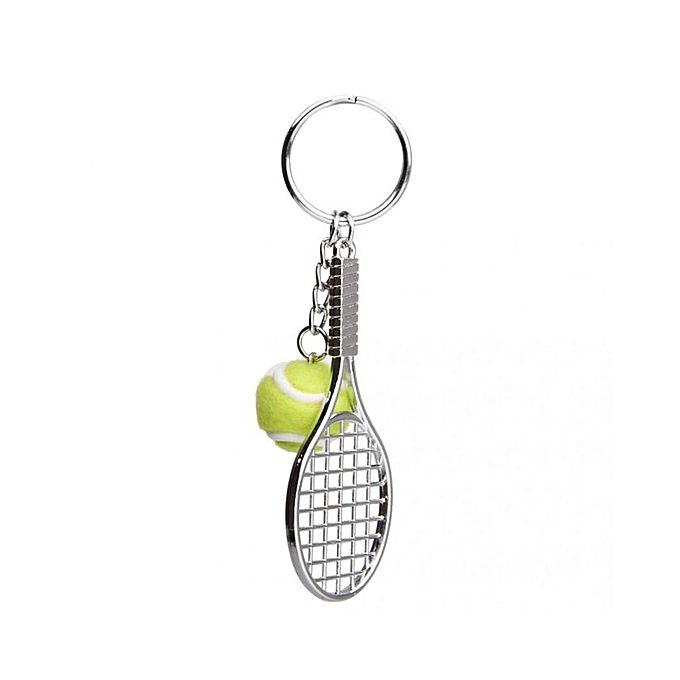 Magideal tennis ball racket pendant keyring key chain gift green tennis ball racket pendant keyring key chain gift green mozeypictures Gallery