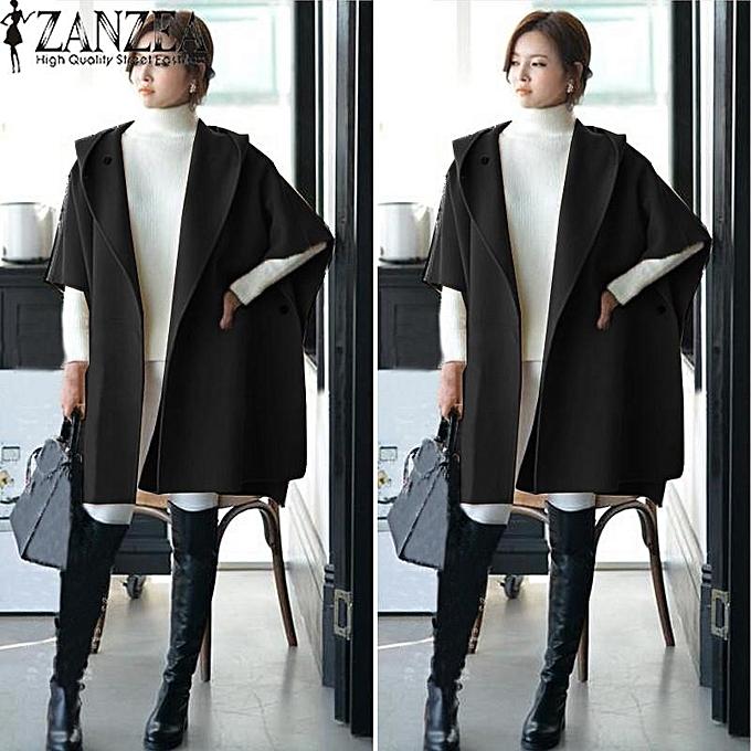 4d0fe5dd4fa1 ZANZEA ZANZEA Winter Fall Women Woolen Coats Female Batwing Sleeve ...