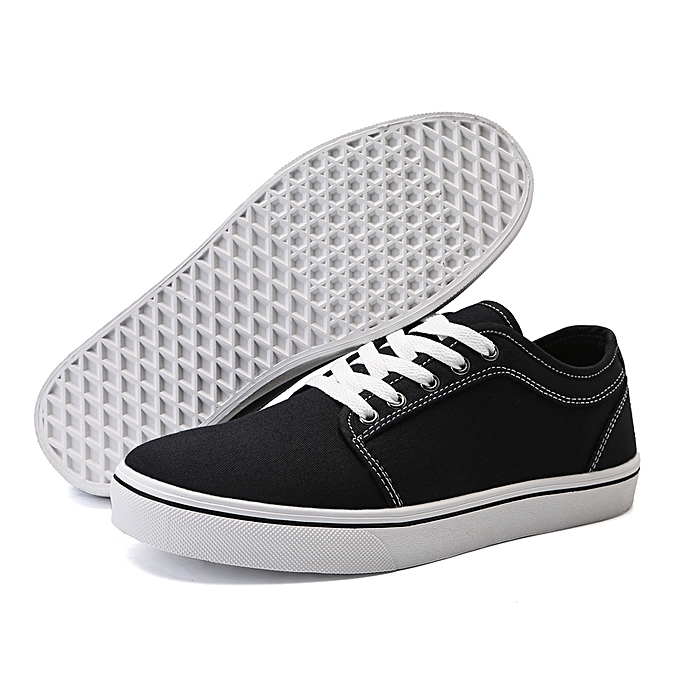 60d8ce6644a4 Generic Mens Lace up Skate Shoes Low Top Canvas Stitching Breathable  Sneakers