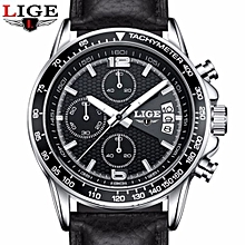 LIGE Luxury Brand Watches Men Six Pin Full Stainless Steel Military Sport Quartz Watch Man Fashion Casual Business Wristwatches 0002