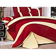 Elegant 4 piece 5x6 -duvetcover stripped Multicolor(1 duvetcover,1 bedsheets,2 pillowcases)