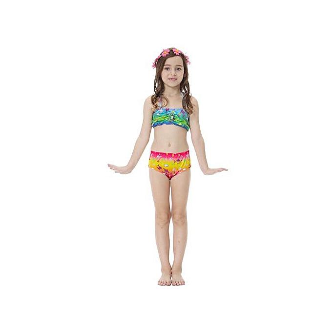 a1fabd018aa ... Kids Girls Swimsuit Bikini Set With Mermaids Tail Sea-maid Swimming  Costumes (110) ...