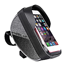 Wheelup Waterproof Frame Handlebar Bag Pouch 6'' Phone Case Holder Bike Bicycle Black