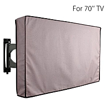 70 Inch Khaki Waterproof Television Cover Outdoor TV Covers Protector Bag Case