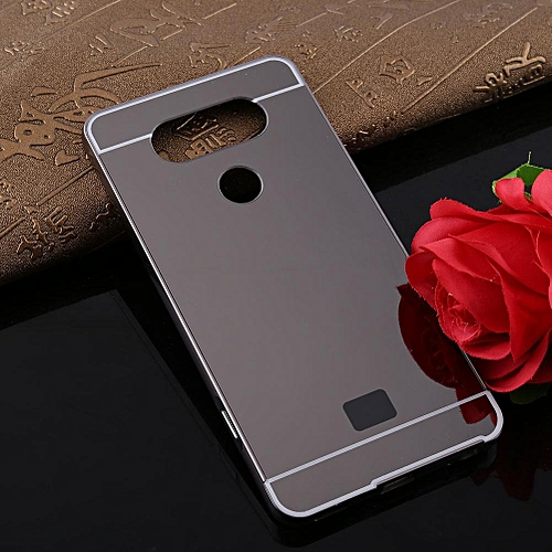 Fashion Ultra-Thin Luxury Detachable Metal Mirror Back Cover Skin Phone  Case For LG V20 (Black)
