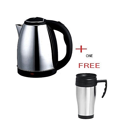 Kettle (Electric) plus A free Travel Mug   - Silver