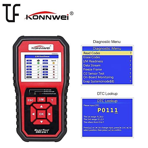 KW850 Universal OBD II / EOBD Car Fault Engine Code Reader Auto Diagnostic  Scanner Tool TFT Color Display / Multiple Languages HonTai