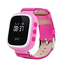 New Kid GPS Smart Watch Wristwatch SOS Call Location Finder Locator Device Tracker For Kid Safe Anti Lost Monitor Pink