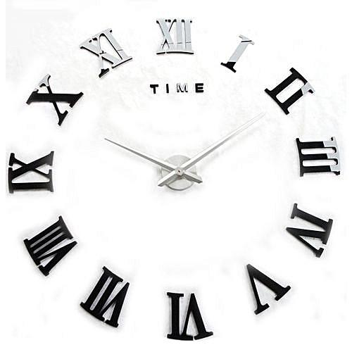 Generic Yika Diy 3d Wall Clock Roman Numerals Mirror Surface Luxury
