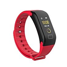 F1 Color Fitness Blood Pressure Oxygen Heart Rate Monitor Smart Watch Bracelet