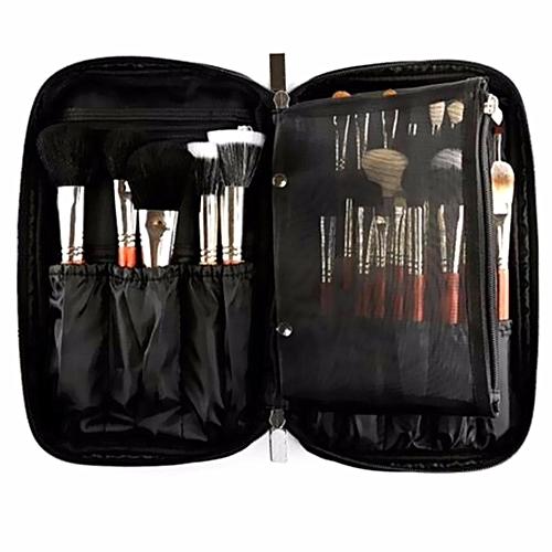 Pro 10 Cosmetic Makeup Brush Bag Case Handle Organizer Holder Pouch Pocket Kit