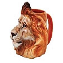 Lion Safari Ceramic Mug- Brown