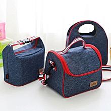 Honana DW-LB5 Jean Aluminum Insulated Lunch Bag Picnic Bento Food Box Cooler Bag Organization