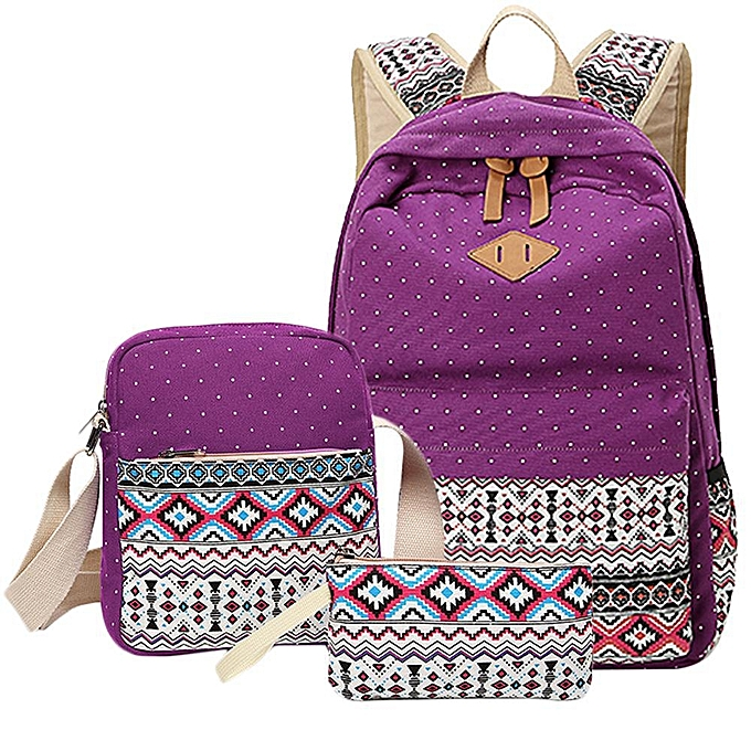 Louis Will Women Printing Backpack Leaper Casual Lightweight